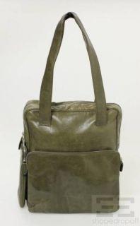 Jil Sander Olive Green Leather Shoulder Bag