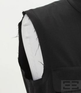 Jil Sander Navy Wool Cargo Pocket Sleeveless Dress Size 38