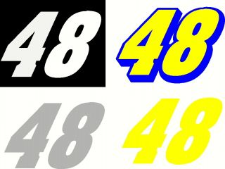 Number 48 Jimmy Johson Vinyl Decal Sticker NASCAR