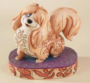 Jim Shore Disney Peg Lady and The Tramp Dog Figurine