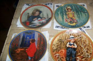 1986 SET 4  JESSIE WILLCOX SMITH CHILDHOOD HOLIDAY PLATESLIMITED FROM