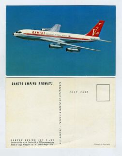 Qantas Empire Airways Boeing V Jet 707 Postcard