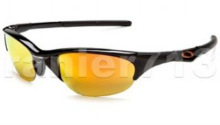 New Oakley Half Jacket Sunglasses Jet Black Fire Iridium