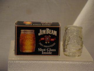 Collectible Jim Beam Shot Glass with Original Box 200th Anniversary