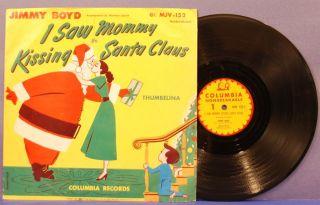 Jimmy Boyd I Saw Mommy Kissing Santa Claus 78 PS Columbia Christmas X