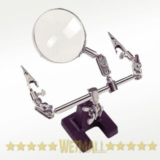 Helping Hand Magnifier Jewelry Watch Repair 4X Magnification