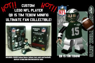 Custom Lego Football Player NY Jets Tim Tebow Collectors Set