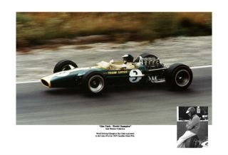 1967 Jim Clark Lotus 49 World Champion s N Edition of 200 Car Poster