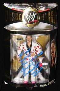 Jimmy Hart WWE Classic Superstars Figure Signed Eat Your Heart Out