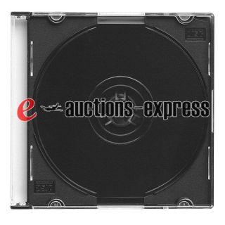 100 Single 5mm Mini CD DVD Jewel Case for Media Storage