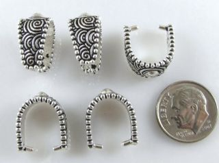 TierraCast Pewter Pendant Pinch Bails Silver Large Spiral 5