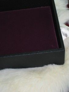 Premier Design Jewelry Case Tray Velvet Deep Box Square