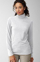 NWT J JILL Ruched Neck Turtleneck Shirt Top Gray Stretch 4X 26W