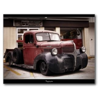 RAT ROD DODGE Postcard
