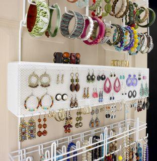 Longstem Closet Door or Wall Jewelry Organizer Valet 5253 Rated Best