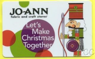 Jo Ann Fabric Lets Make Christmas Together Nutcracker 2010 Gift Card