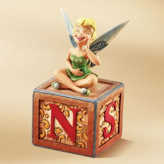 Enesco Jim Shore Disney Traditions Tinker Bell Block Laugh Figurine