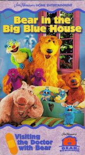 Jim Hensons Bear in The Big Blue House Visiting The Doctor VHS