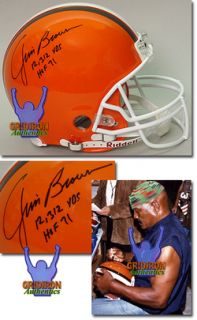 Jim Brown Autographed Cleveland Browns Pro Line Game Helmet w 2