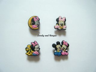 Baby Minnie Mouse Shoe Charms Jibbitz Set of 4