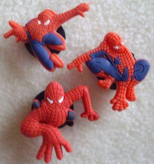 PC Spiderman Shoe Charms Fit Crocs Jibbitz Set 3