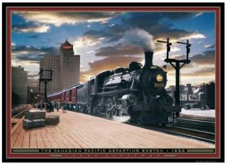 THE CANADIAN PACIFIC 750 pc. jigsaw puzzle   Boston Steam Train