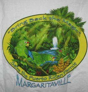 Jimmy Buffett Margaritaville Tshirt L T Puerto Rican Parrot Recovery
