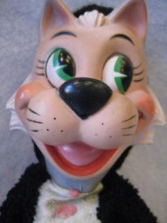 Knickerbocker Mr JINX plush vinyl facedoll Hanna Barbera Jinks cat