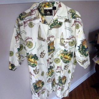 Jimmy Buffett Hawaiian Party Shirt Margaritaville XL
