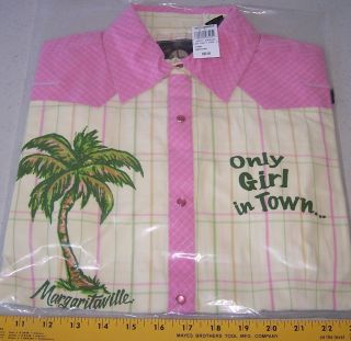 Jimmy Buffett Margaritaville Button Up Shirt Only Girl in Town Ladys