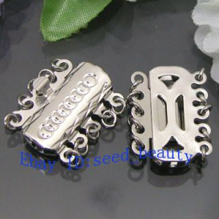 Strands White Gold Plated Box Jewelry Clasp