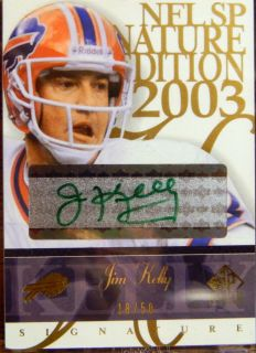 Jim Kelly Auto 2003 SP Signature Edition Green Ink D 18 50 $$ Bills