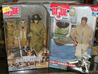 GI Joe John F. Kennedy PT 109 Boat Commander and World War I Doughboy