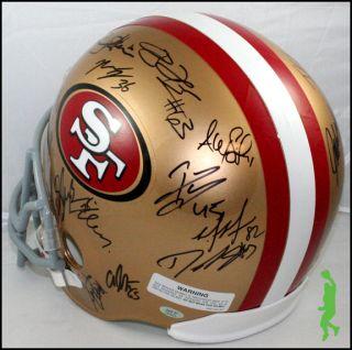 2012 San Francisco 49ers Team Signed F s Football Helmet 28 Autos