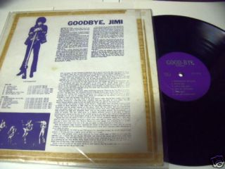 Jimi Hendrix Goodbye Jimi LP Record Album Live UK Tracks 1967 68
