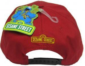 Sesame Street Hat Red Elmo Face Snapback Hat with Adjustable Strap