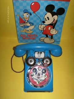 VTG JIMMIE DODD/ MICKEY MOUSE TALKING TELEPHONE TIN TOY WALT DISNEY