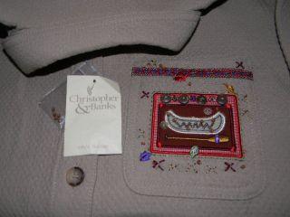 Christopher Banks Fall Autumn Canoe Moose Shirt Jacket 6 8 S