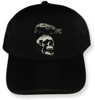 Crow Skull Embroidered Cap Trucker Hat Stallone Barney Ross