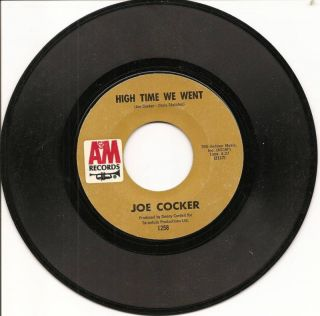 Joe Cocker High Time We Went Original 1971 A M 45