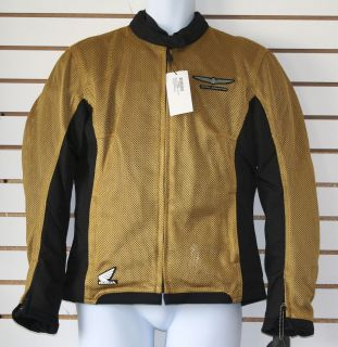 Joe Rocket Ladies Womans Large L Goldwing Millennium Mesh Jacket Gold