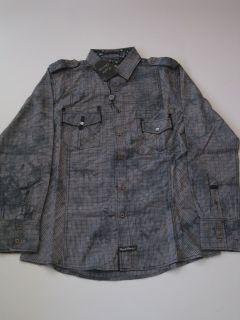 Rooney Plaid Blue English Laundry LS Shirt Longsleeve Mens Button Up