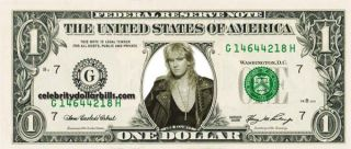 Def Leppard Joe Elliott Celebrity Dollar Bill Uncirculated Mint US