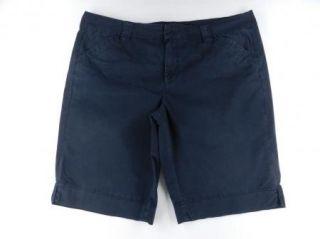 Calvin Klein CK Navy Blue Casual Walking Shorts Womens Sz 16 18 w 18W