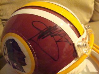 Joe Gibbs Autograph Washington Redskins Mini Helmet Signed