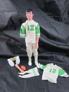 Vintage 1970 Joe Namath Doll NY Jets Looks Just Like Him