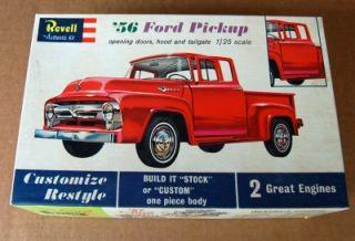 Vintage 1 25 Revell 1956 Ford Pickup Kit Unbuilt in Box Opening Doors
