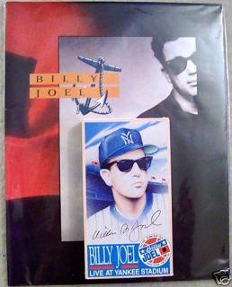 Billy Joel 1990 Storm Front Tour Program VHS Yankee Stadium