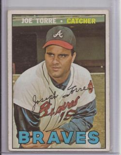1967 Joe Torre Topps Card 350 Braves Yankees Dodgers