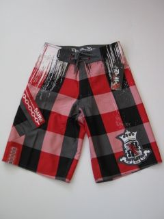 14cdf32067 ... Da Hui Ravage Black Red Hawaii Boardshorts Board Shorts Surf Swim MMA  ...